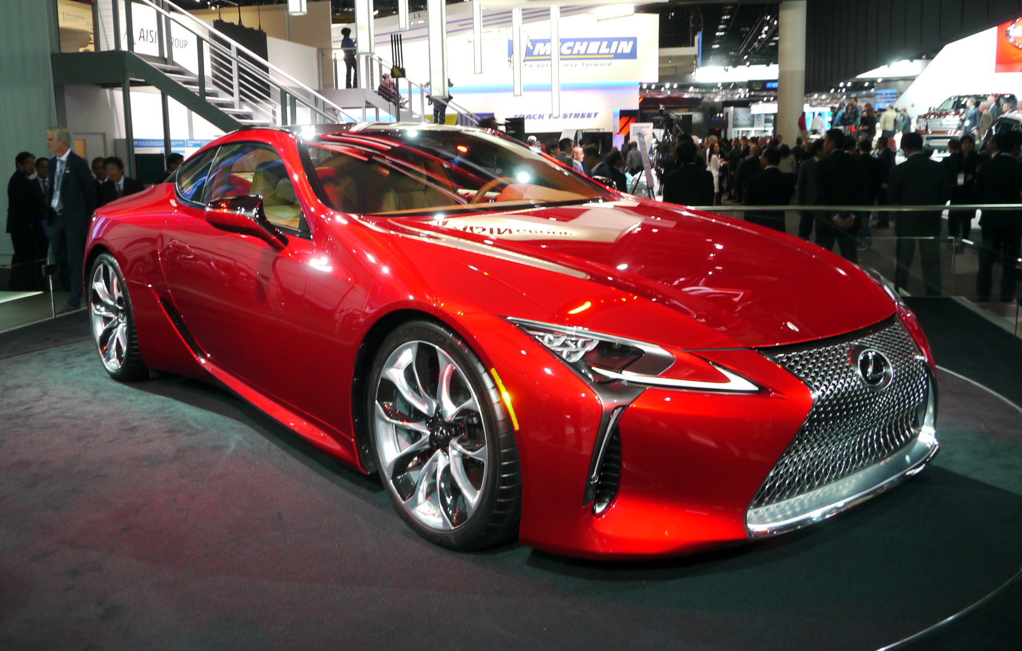global debut of lexus lc 500 at the 2016 naias detroit stylux en. Black Bedroom Furniture Sets. Home Design Ideas